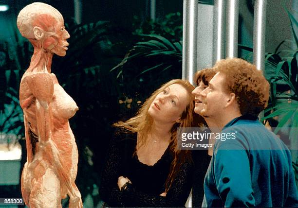 An anatomical specimen created by Professor Gunter Von Hagens is displayed March 20 2002 at The Atlantis Gallery in the Old Truman Brewery in...