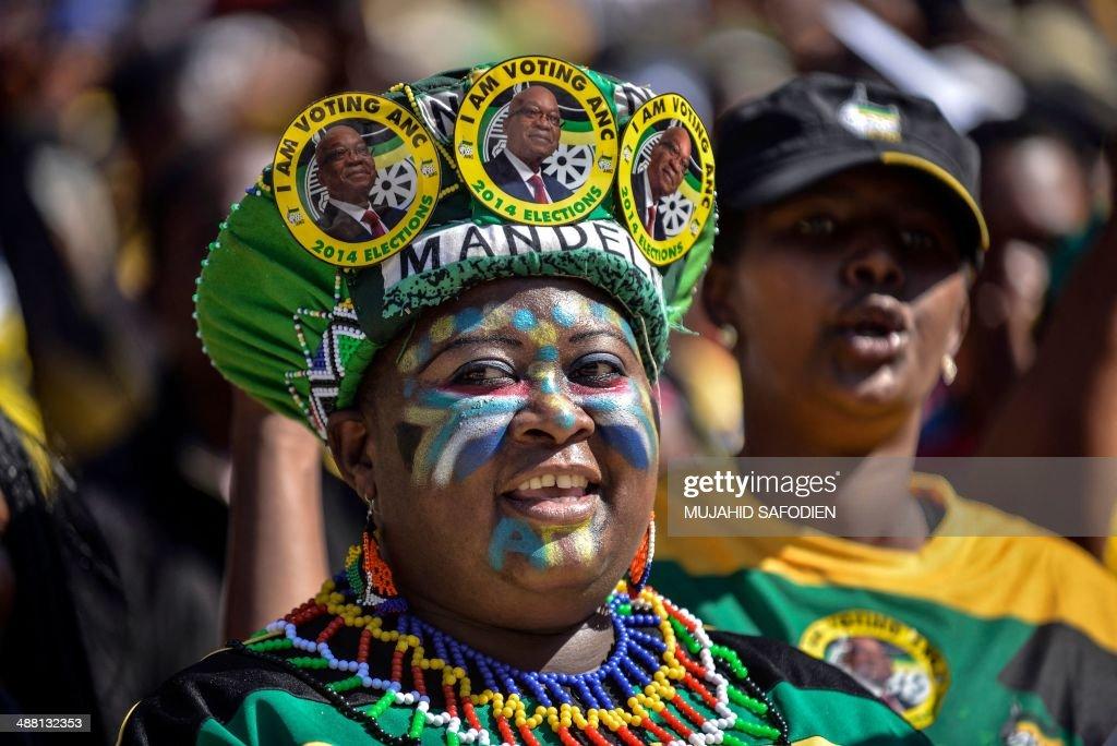 SAFRICA-POLITICS-VOTE-ANC-RALLY : News Photo