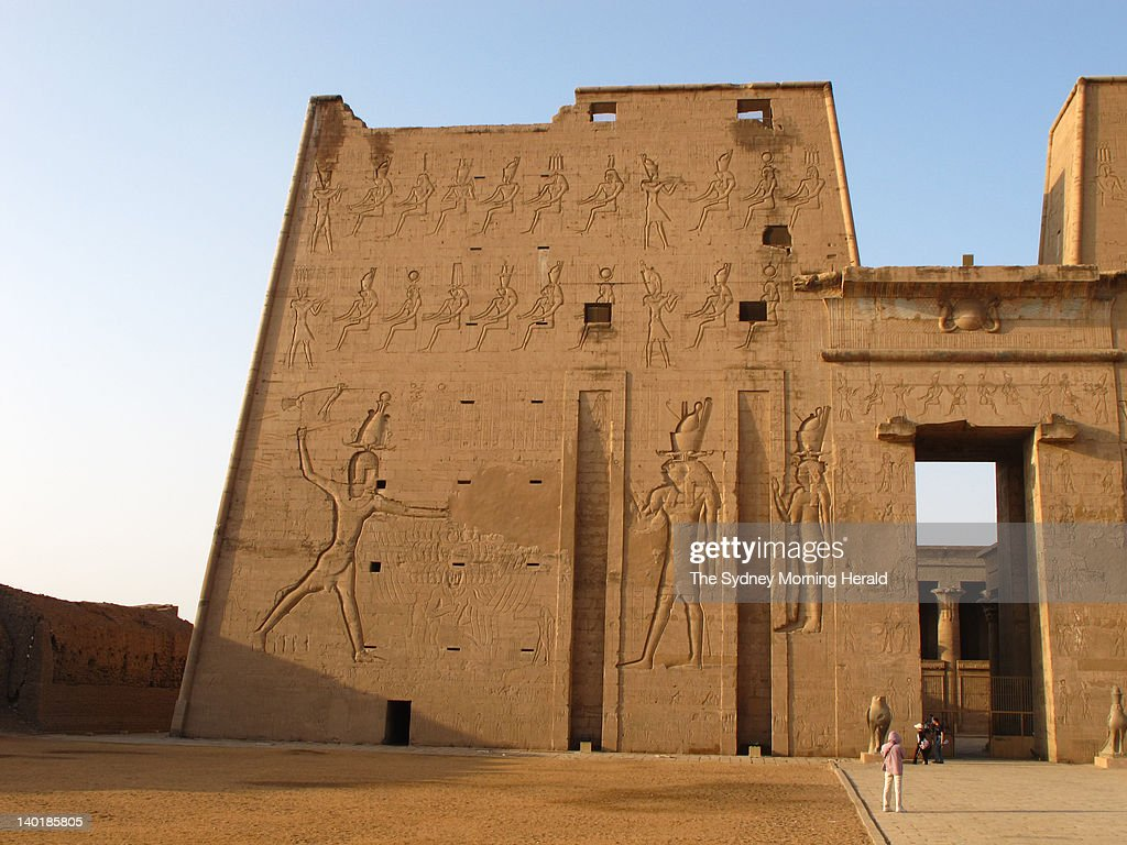 An ancient building at Edfu on the banks of the Nile River