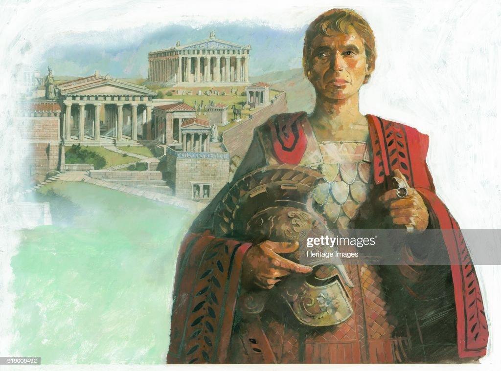 Ancient Greek Warrior And/Or Statesman : News Photo