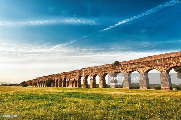 An ancient Roman aqueduct