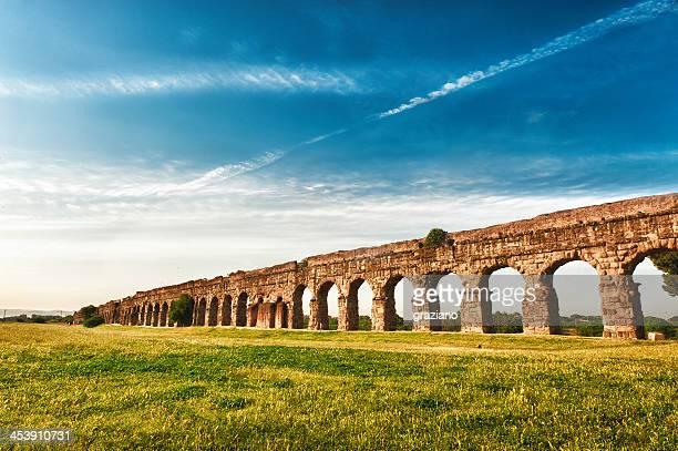An ancient Roman aqueduct