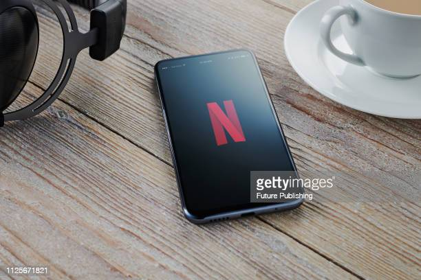 An Android smartphone with the Netflix logo visible on screen taken on February 7 2019