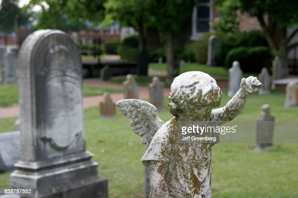 An angel statue in the cemetery at St John's Church