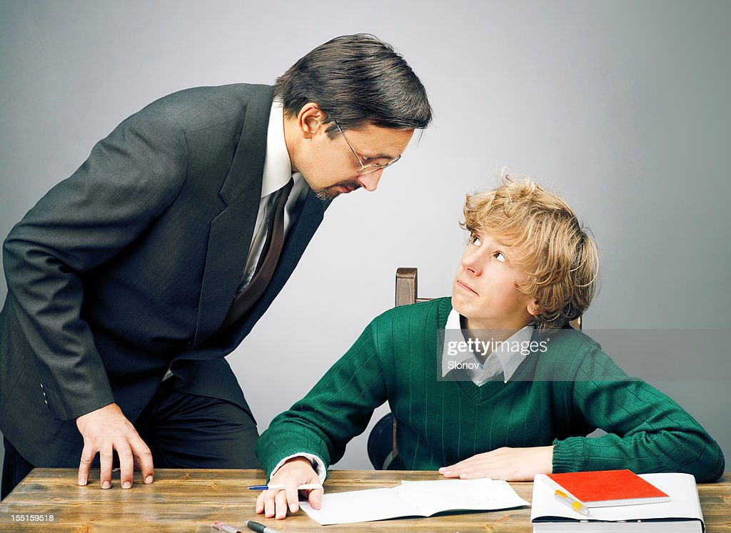 An Angry Teacher Warns A Student Stock Photo   Getty Images