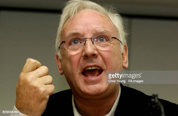An animated music 'impressario' Pete Waterman makes his views felt as he attends a press conference at the British Phonographic Industry's offices in...