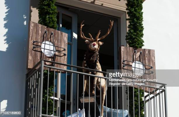 An animatronic Rudolph is part of the Christmas decorations going up at the new Outlets at San Clemente Friday INFO OutletsatSanClemente1112kjs Photo...