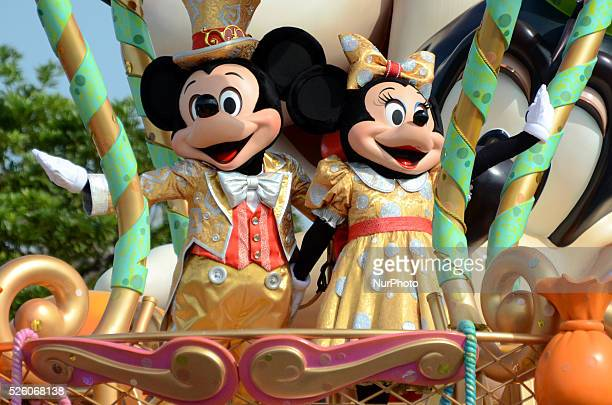 An annual quotHappy Halloween Harvestquot parade performs at Tokyo Disneyland in Urayasu east of Tokyo on Sept 23 2015 Mickey Mouse and Minnie...