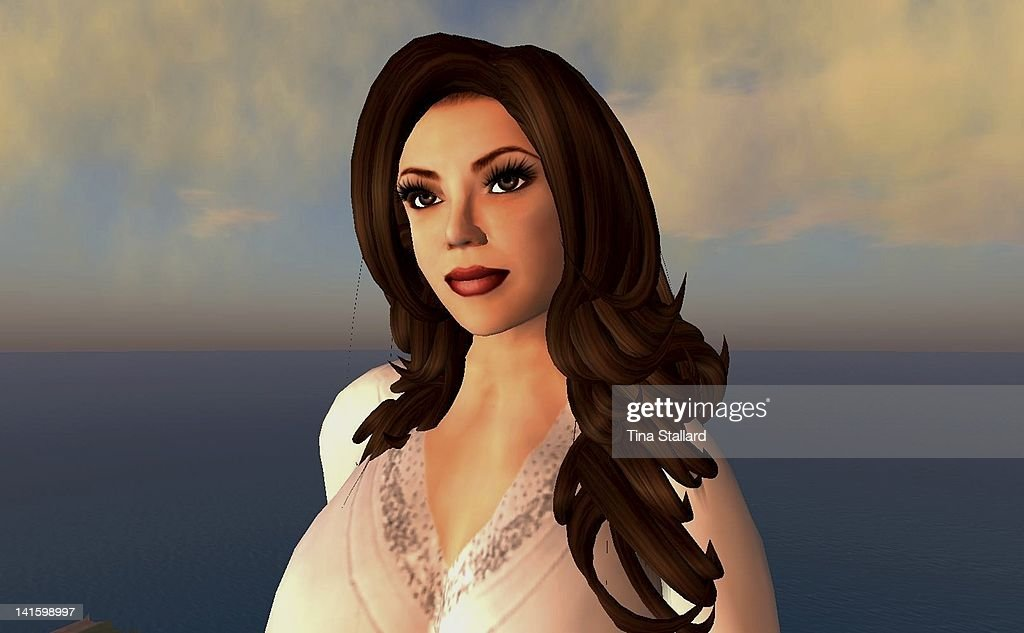 An anonymous woman, 42, shows her avatar (virtual character) on the Second Life website. She is severely obese and has a disabled chlld, and finds Second Life is a welcome escape from reality.