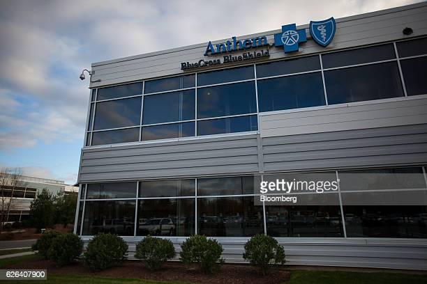 An Anthem Inc  Blue Cross Blue Shield office building stands