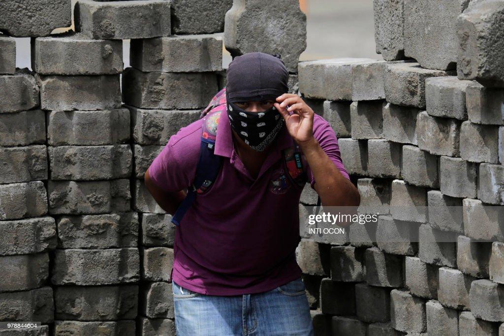 TOPSHOT-NICARAGUA-UNREST-PROTEST : News Photo