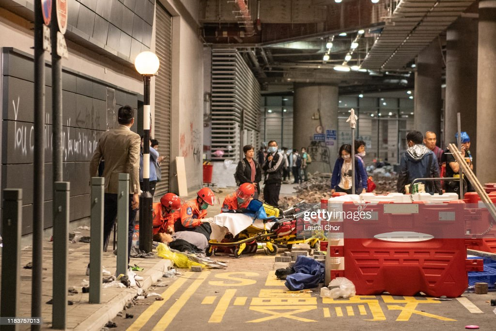 Anti-Government Protests in Hong Kong : News Photo
