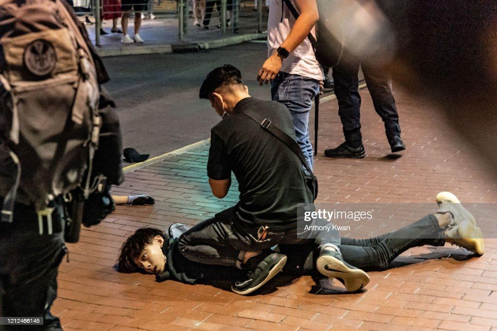 Anti-Government Protests Continue In Hong Kong Amid The Coronavirus Pandemic : ニュース写真