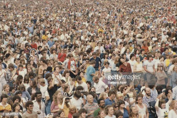 An antinuclear rally in Central Park New York City 12th June 1982