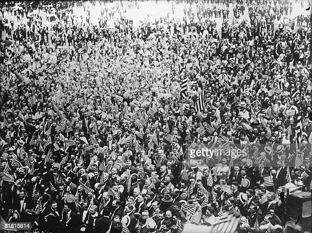 An antiprohibition demonstration in Washington DC circa 1920