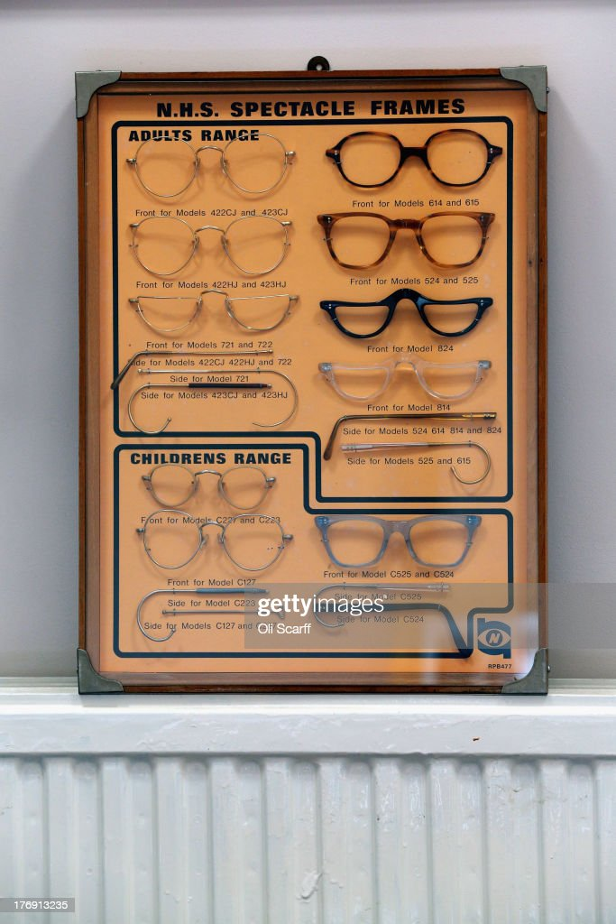 26dfbae7a69 An antique display board of NHS spectacles formerly made by Savile ...