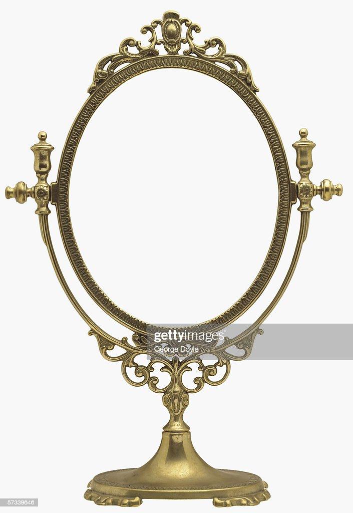 an antique mirror frame : Stock Photo