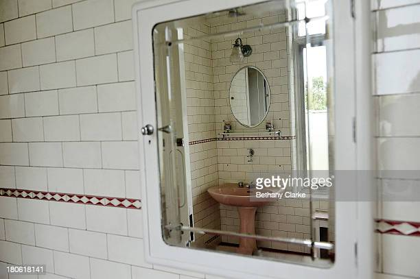 An antique on suite bathroom in Pineheath house on September 4 2013 in Harrogate England The untouched 40bedroom house belonged to wealthy Indianborn...