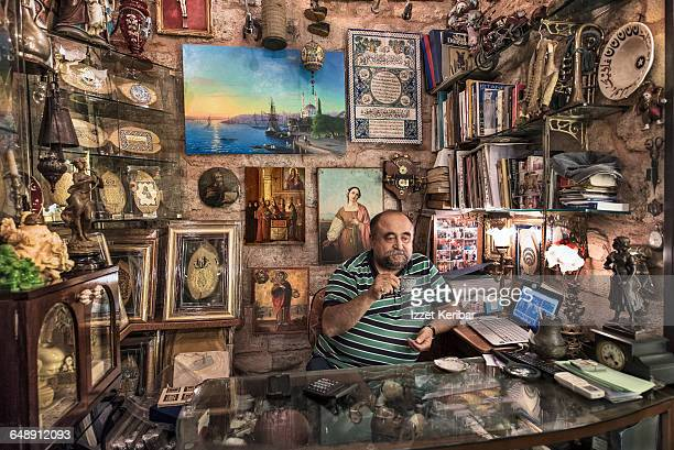 An antique shop in the Grand Bazaar, Istanbul