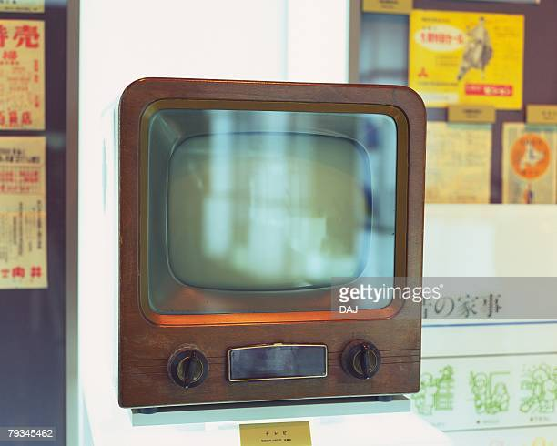 an antique television - showa period stock pictures, royalty-free photos & images