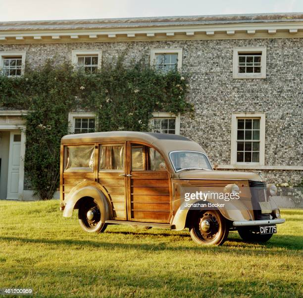 An antique truck is photographed for Vanity Fair Magazine on June 27 2012 at Goodwood in Chichester England