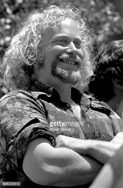 An antiVietnam War political activist Stew Albert smiles during the Free Speech Movement circa June 1969 at the University of California Berkeley...