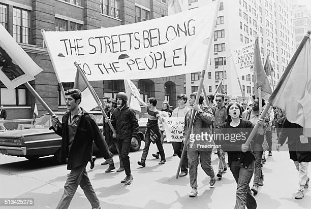 An antiwar protest march during the Vietnam War USA 1968
