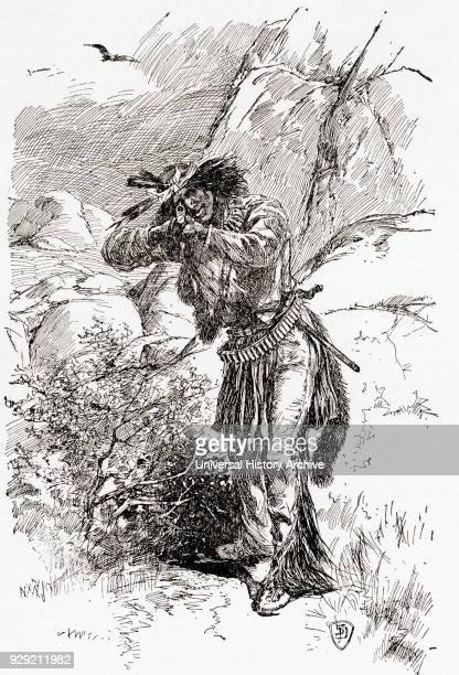 An Apache Indian hunting in the 19th century From The History of Our Country published 1900