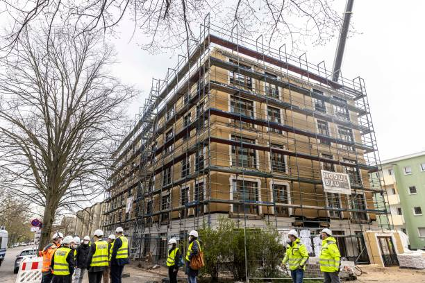 DEU: Wood Is Main Construction Material In Modular Housing Project
