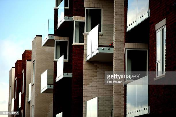 An apartment style living block is seen on May 16 2013 in Auckland New Zealand The National government are set to announce changes in the upcoming...
