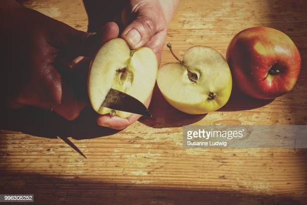 an apple a day - susanne ludwig stock pictures, royalty-free photos & images
