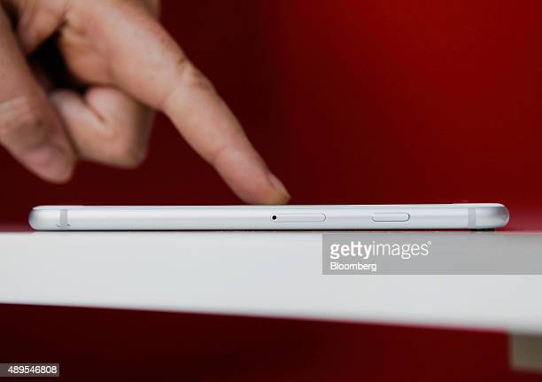 An Apple Inc iPhone 6S smartphone is displayed for a photograph in New York US on Monday Sept 21 2015 3D Touch is a pressuresensitive layer thats...