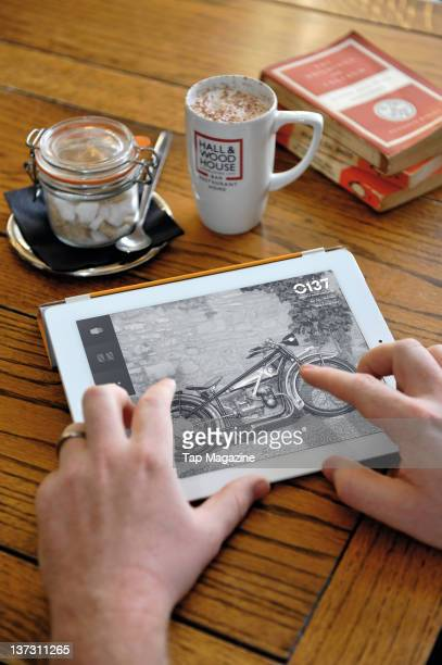 An Apple iPad 2 in a coffee shop May 3 2011