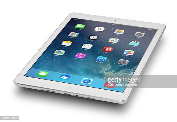 An Apple iPad Air photographed on a white background taken on November 6 2013