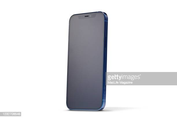 An Apple iPhone 12 with a Blue finish, taken on October 28, 2020.