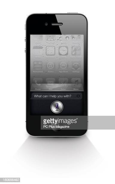 An Apple iPhone 4S with the Siri intelligent personal assistant software onscreen taken on October 20 2011