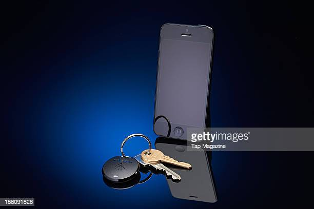 An Apple iPhone 5 alongside a Kensington Proximo Starter Kit photographed for a feature about proximity devices taken on May 2 2013