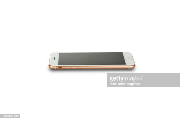 An Apple iPhone 8 smartphone with a Gold finish taken on October 3 2017
