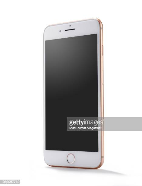 An Apple iPhone 8 smartphone with a Gold finish taken on September 28 2017