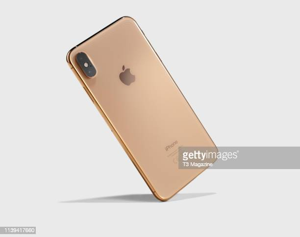 An Apple iPhone XS Max smartphone with a Gold finish taken on September 27 2018