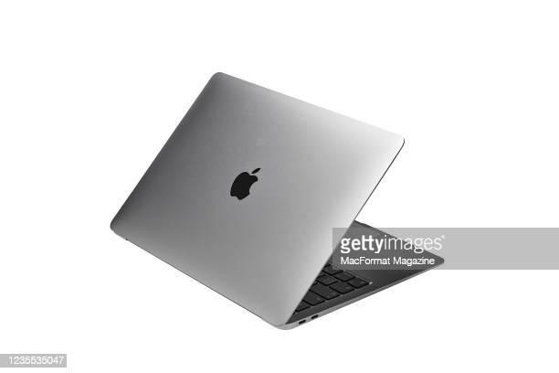An Apple MacBook Air laptop computer, taken on November 24, 2020.