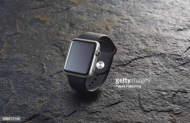 An Apple Watch fitted with a Sports Band strap taken on September 21 2015