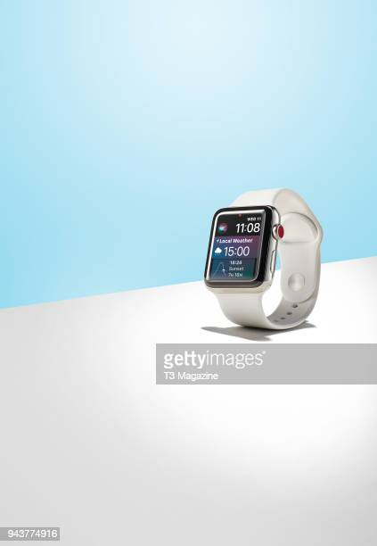 An Apple Watch Series 3 smartwatch taken on October 3 2017