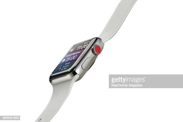 An Apple Watch Series 3 smartwatch taken on October 3 2017