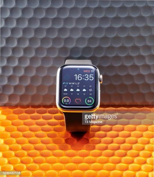 An Apple Watch Series 5 smartwatch, taken on March 11, 2020.