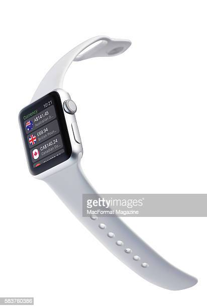 An Apple Watch Sport with a White Sport Band taken on May 5 2015