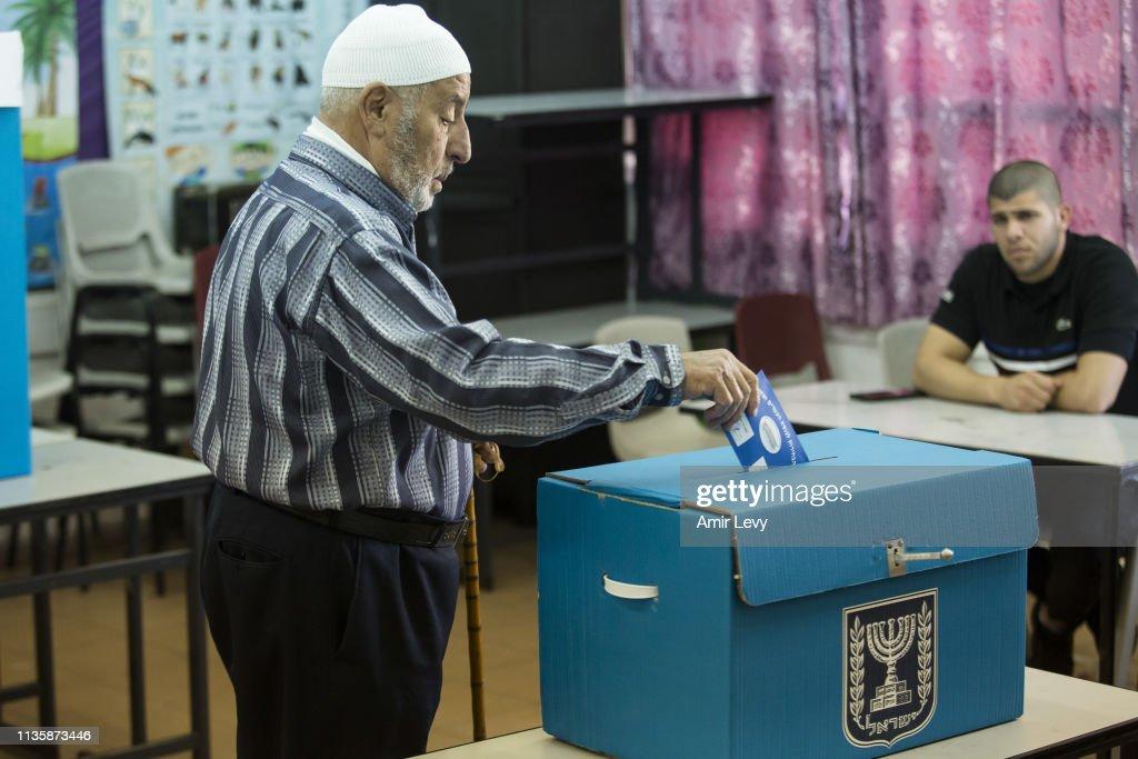 Israel Votes in Their General Election : Fotografia de notícias