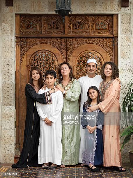 An Arab Muslim Malaysian family.