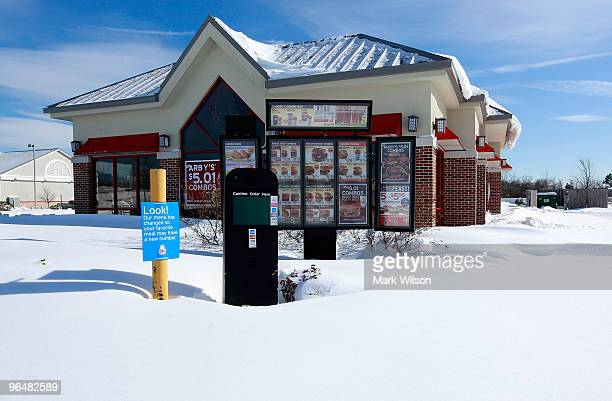An Arby's resturaunt remains closed due to the major snow storm that hit the area on February 7 2010 in Dunkirk Maryland The Washington DC area was...
