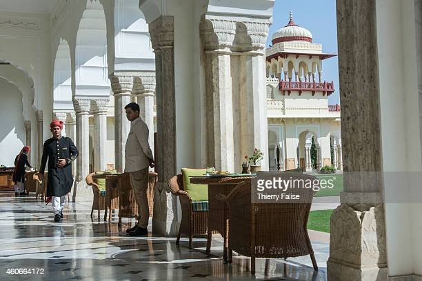 An arch in the Rambagh Palace in Jaipur a former residence of the Maharaja of Jaipur and now a luxury Hotel